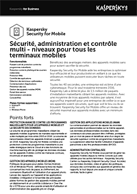 KASPERSKY SECURITY FOR MOBILE - FICHE PRODUIT